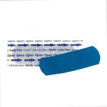 "Blue Metal Detectable 1""x3"" Fabric Bandages, 1500 Per Box"