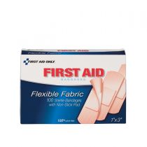 "1""x3"" Fabric Bandages, 100 per Box"