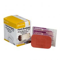 "2""x3"" Heavy Woven Fabric Bandages, 25 Per Box"