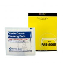 "SmartCompliance Refill 3"" x 3"" Sterile Gauze Pads, Five bags of 2 Gauze Pads-This is a case of 24 bags"