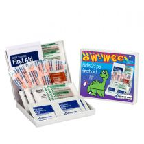 Kids First Aid Kit, 28 Piece, Plastic Case