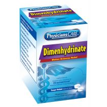 PhysiciansCare Motion Sickness (Dimenhydrinate), 50x2 per Box