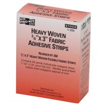 "3/4""x3"" Heavy Woven Fabric Bandages, 50 Per Box"