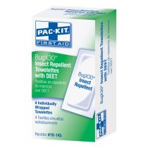 BugX30 Insect Repellent Wipes DEET, 4 Per Box
