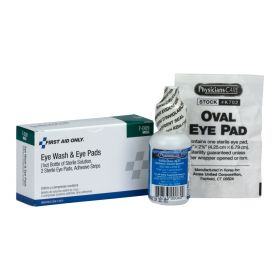 1 oz. Eyewash, Eye pads & Adhesive Strips, 1 set/box, a 5 Piece Set